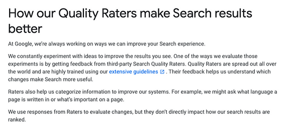 Quality Raters SEO