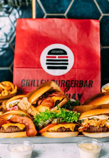 PK medier cases Grillen burger